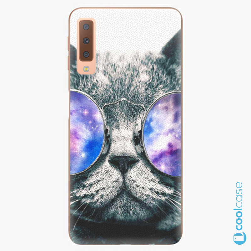 Silikonové pouzdro iSaprio - Galaxy Cat na mobil Samsung Galaxy A7 (2018)