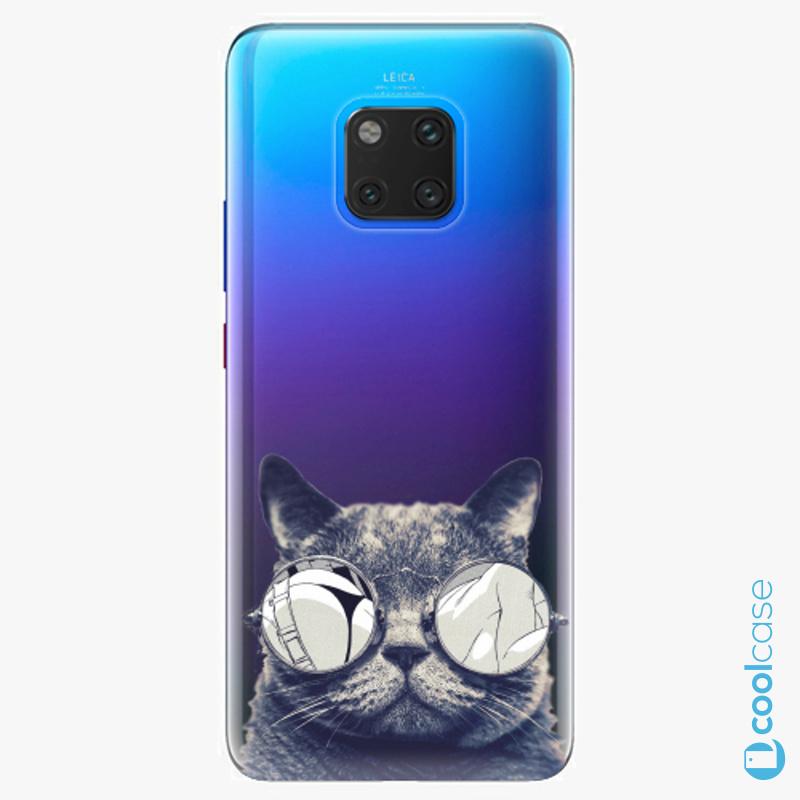 Silikonové pouzdro iSaprio - Crazy Cat 01 na mobil Huawei Mate 20 Pro