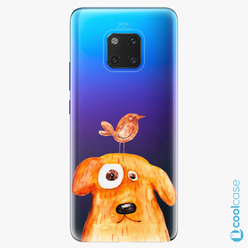 Silikonové pouzdro iSaprio - Dog And Bird na mobil Huawei Mate 20 Pro