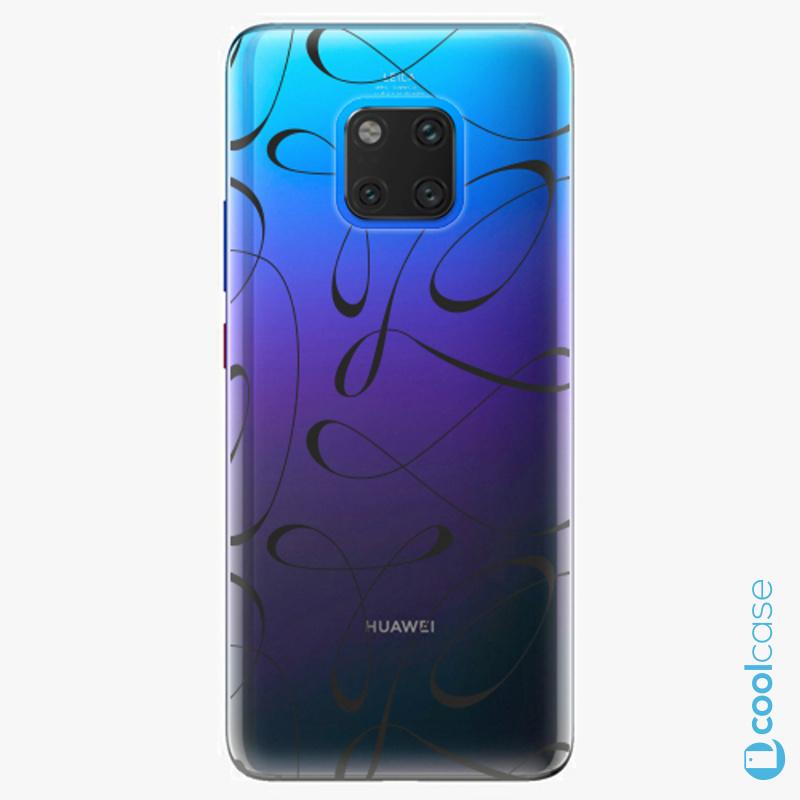 Silikonové pouzdro iSaprio - Fancy black na mobil Huawei Mate 20 Pro