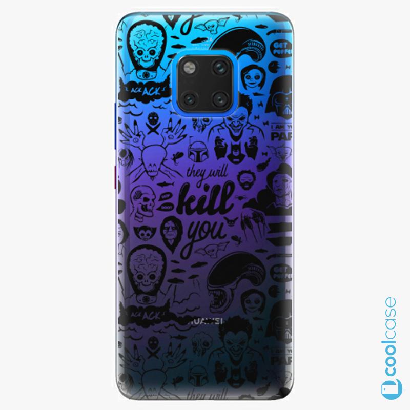 Silikonové pouzdro iSaprio - Comics 01 black na mobil Huawei Mate 20 Pro