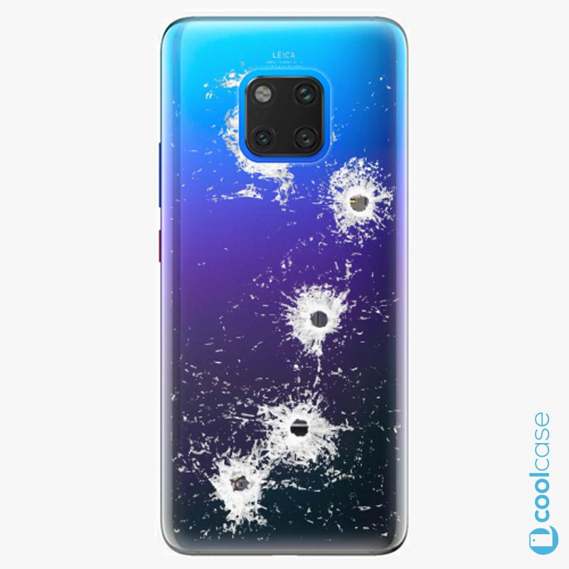 Silikonové pouzdro iSaprio - Gunshots na mobil Huawei Mate 20 Pro