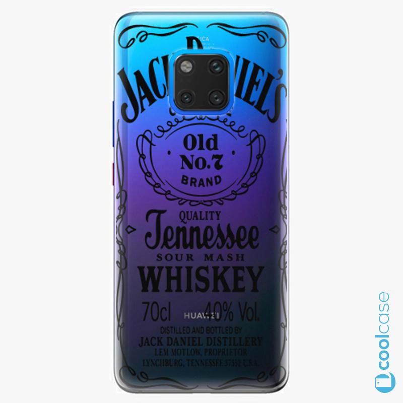 Silikonové pouzdro iSaprio - Transparent Black Jack na mobil Huawei Mate 20 Pro