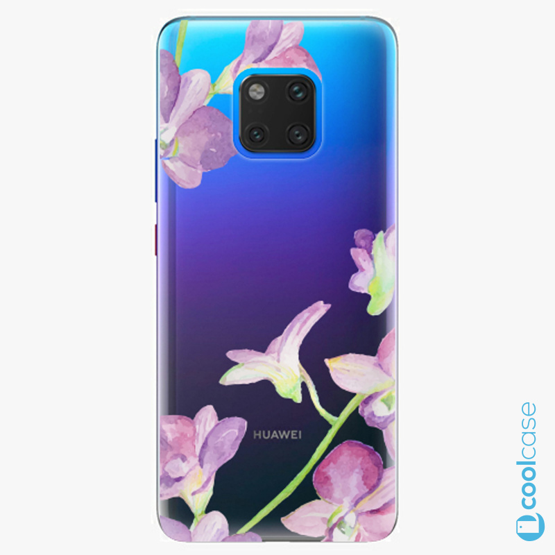 Silikonový obal, pouzdro, kryt iSaprio purple Orchid na mobil Huawei Mate 20 Pro