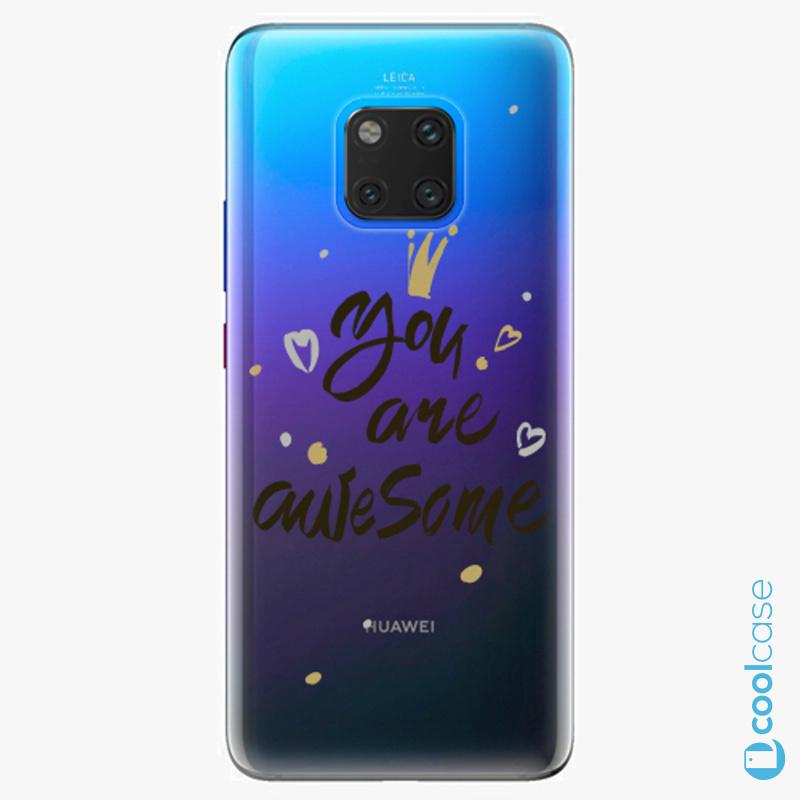 Silikonové pouzdro iSaprio - You Are Awesome black na mobil Huawei Mate 20 Pro