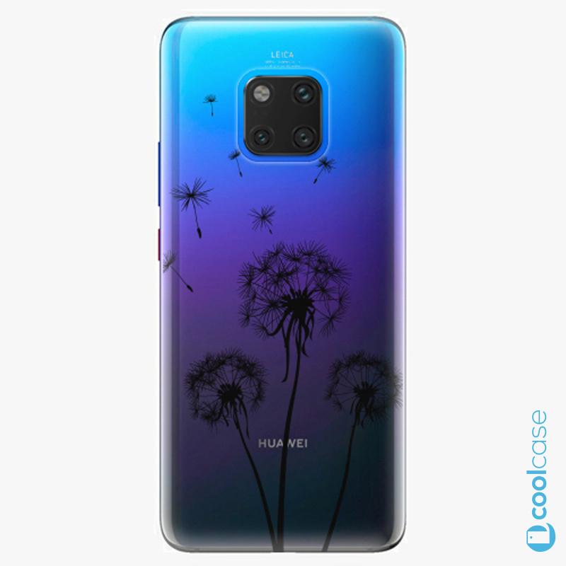 Silikonové pouzdro iSaprio - Three Dandelions black na mobil Huawei Mate 20 Pro
