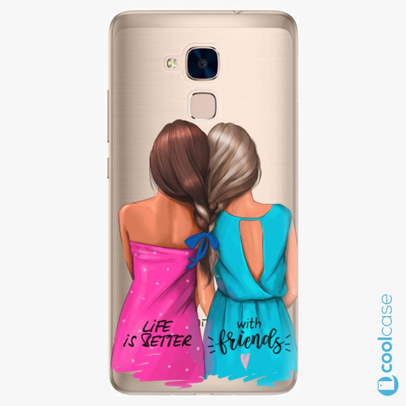 Silikonové pouzdro iSaprio - Best Friends na mobil Honor 7 Lite