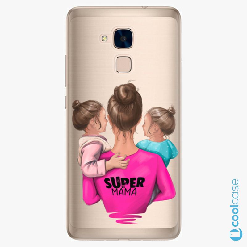 Silikonové pouzdro iSaprio - Super Mama na mobil Two Girls na mobil Honor 7 Lite