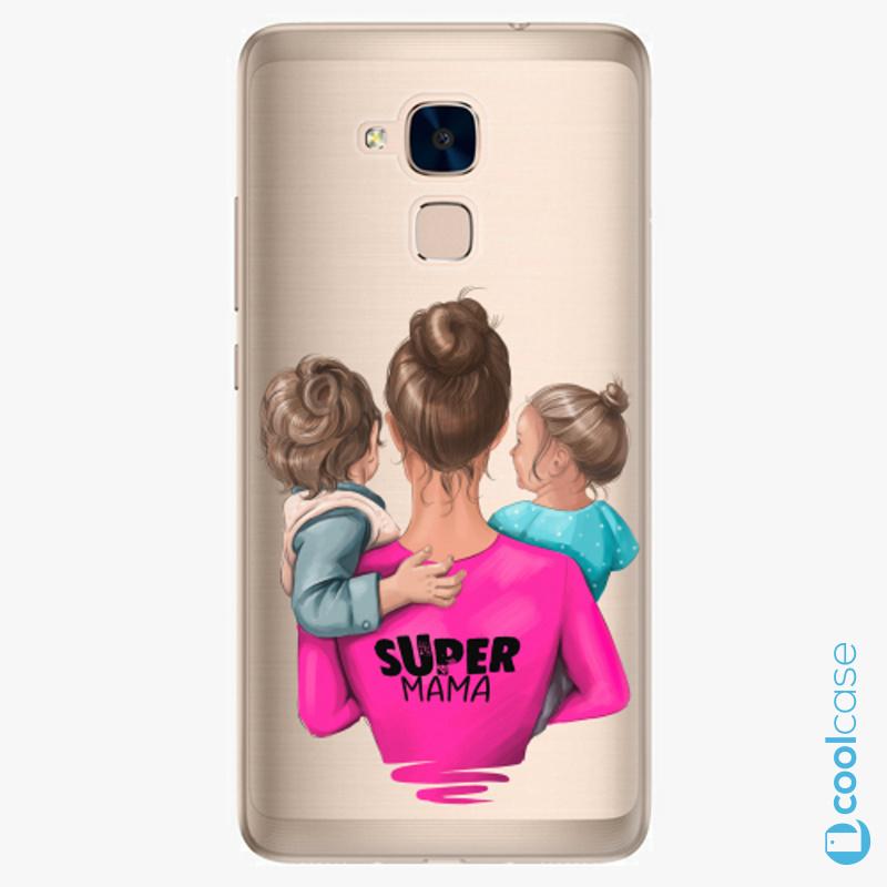 Silikonové pouzdro iSaprio - Super Mama na mobil Boy and Girl na mobil Honor 7 Lite