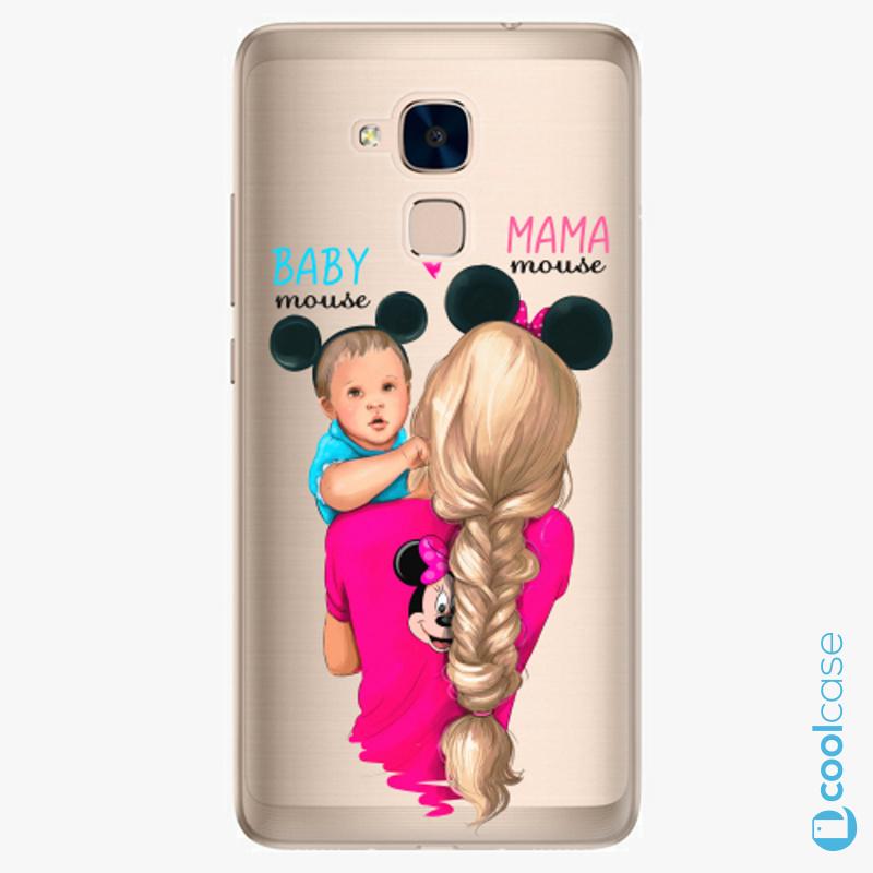 Silikonové pouzdro iSaprio - Mama Mouse Blonde and Boy na mobil Honor 7 Lite