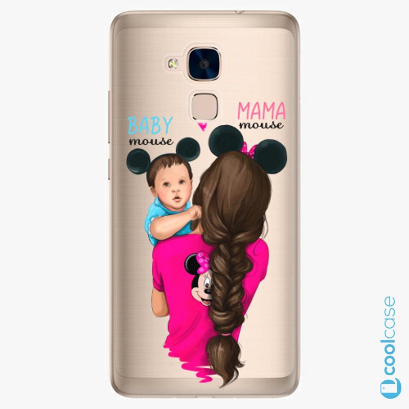 Silikonové pouzdro iSaprio - Mama Mouse Brunette and Boy na mobil Honor 7 Lite