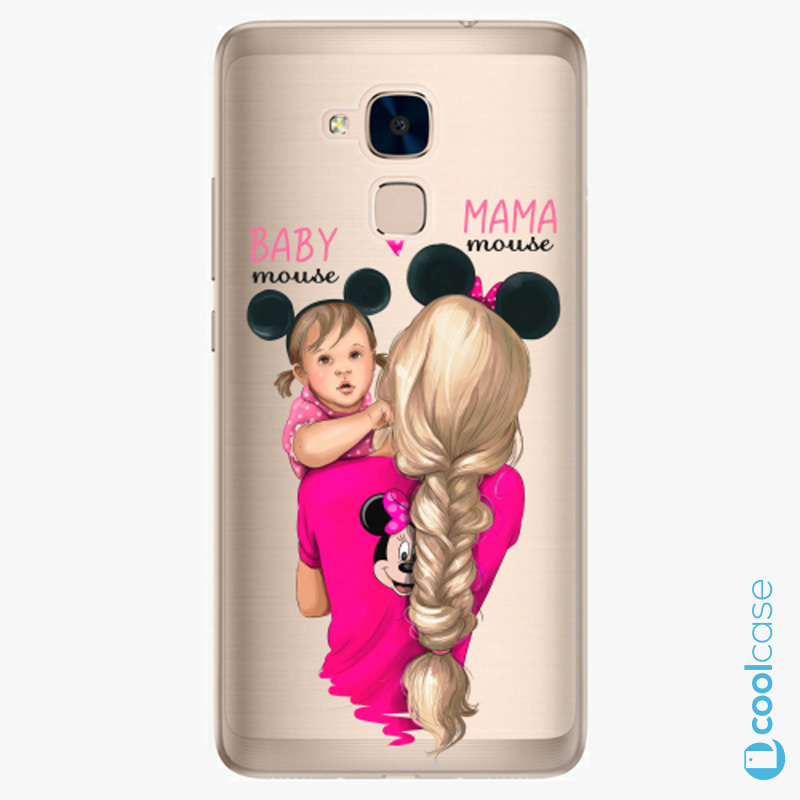 Silikonové pouzdro iSaprio - Mama Mouse Blond and Girl na mobil Honor 7 Lite
