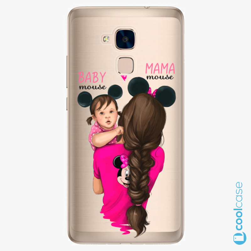 Silikonové pouzdro iSaprio - Mama Mouse Brunette and Girl na mobil Honor 7 Lite