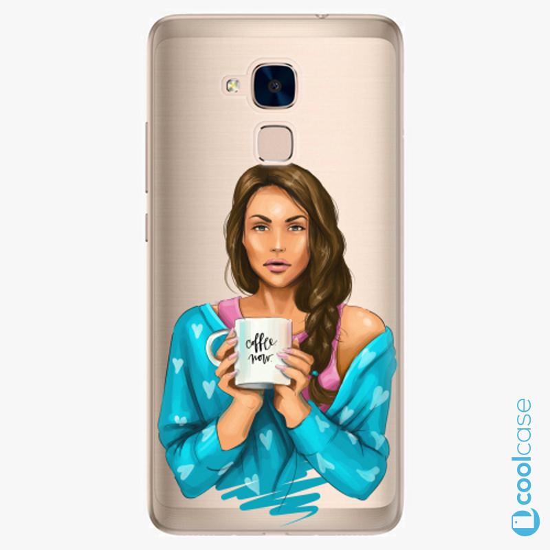 Silikonové pouzdro iSaprio - Coffe Now Brunette na mobil Honor 7 Lite
