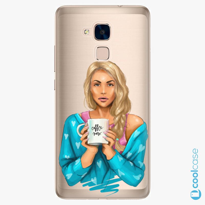 Silikonové pouzdro iSaprio - Coffe Now Blond na mobil Honor 7 Lite