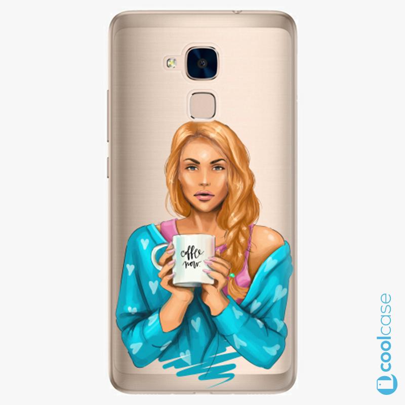 Silikonové pouzdro iSaprio - Coffe Now Redhead na mobil Honor 7 Lite