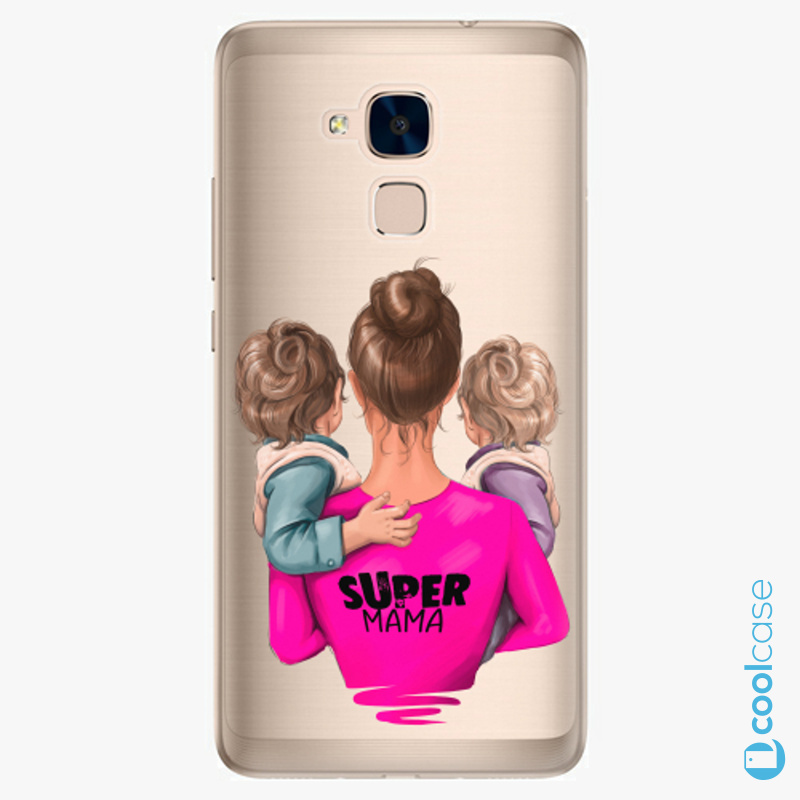 Silikonové pouzdro iSaprio - Super Mama na mobil Two Boys na mobil Honor 7 Lite
