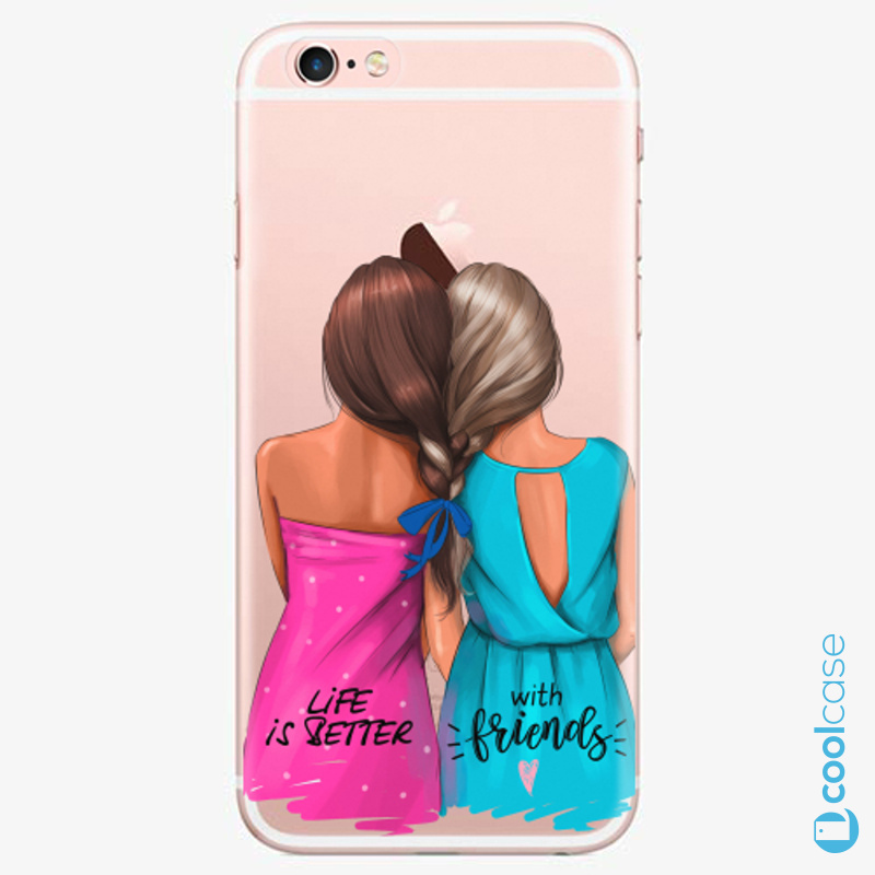 Silikonové pouzdro iSaprio - Best Friends na mobil Apple iPhone 6 Plus / 6S Plus