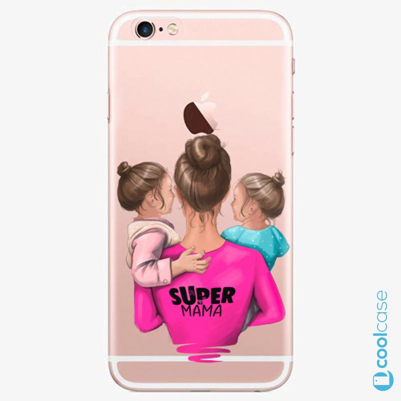 Silikonové pouzdro iSaprio - Super Mama na mobil Two Girls na mobil Apple iPhone 6 Plus / 6S Plus