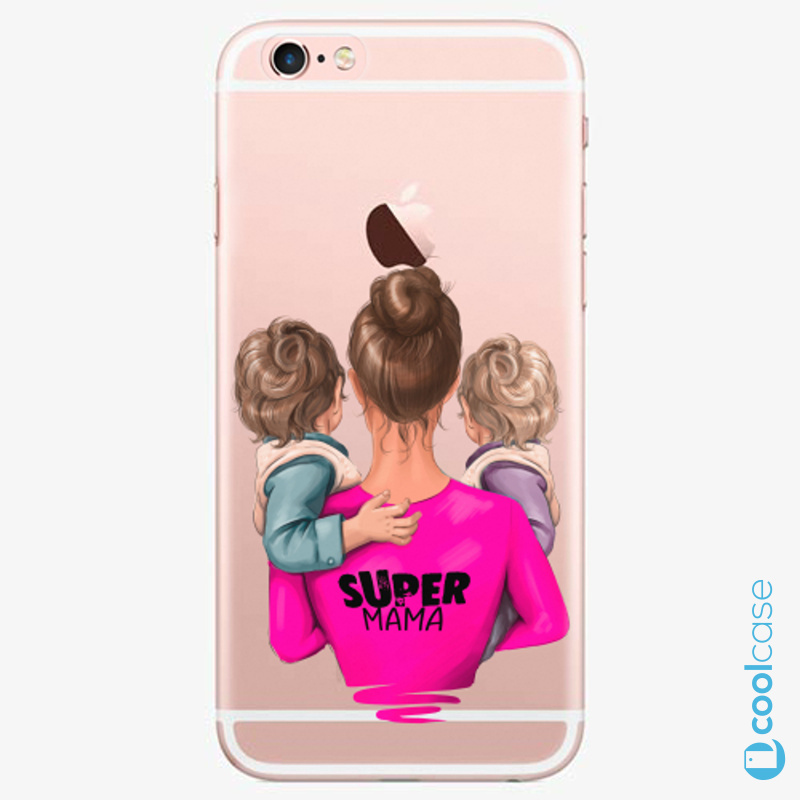 Silikonové pouzdro iSaprio - Super Mama na mobil Two Boys na mobil Apple iPhone 6 Plus / 6S Plus