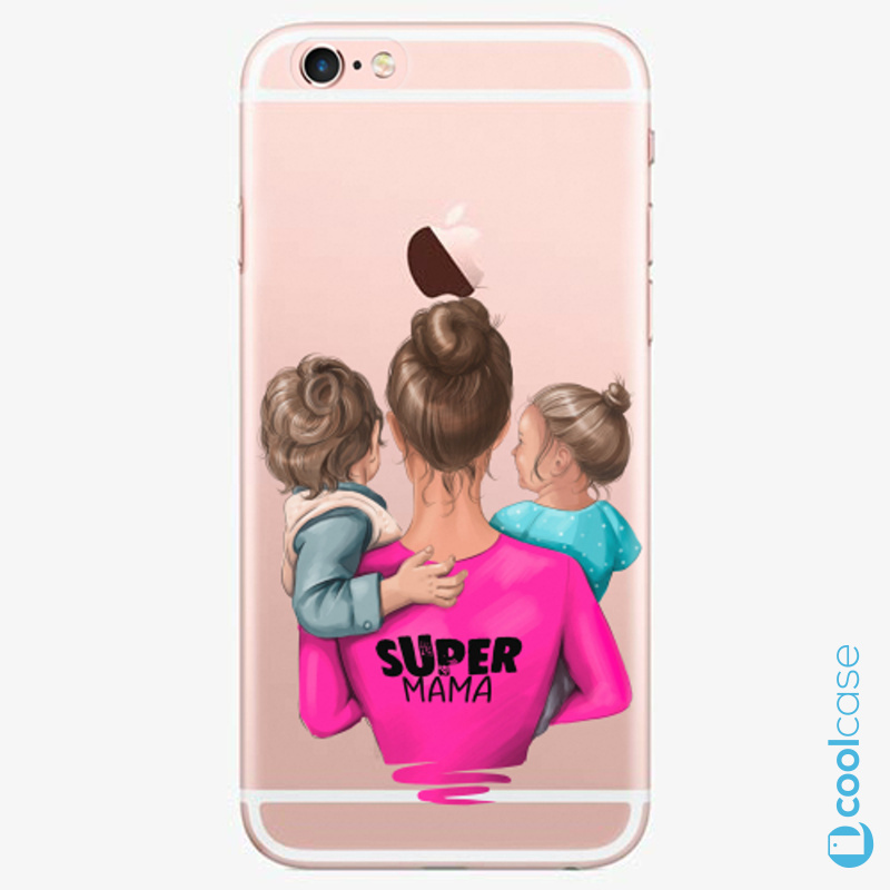 Silikonové pouzdro iSaprio - Super Mama na mobil Boy and Girl na mobil Apple iPhone 6 Plus / 6S Plus