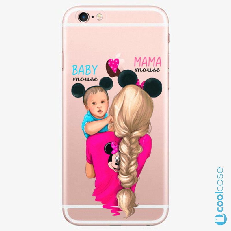 Silikonové pouzdro iSaprio - Mama Mouse Blonde and Boy na mobil Apple iPhone 6 Plus / 6S Plus
