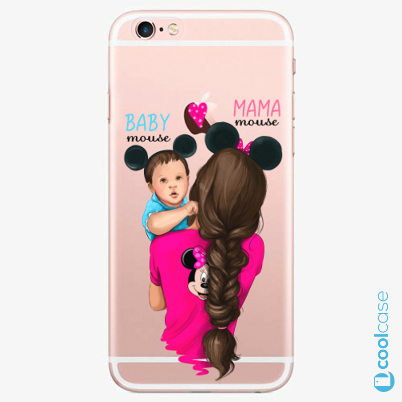 Silikonové pouzdro iSaprio - Mama Mouse Brunette and Boy na mobil Apple iPhone 6 Plus / 6S Plus