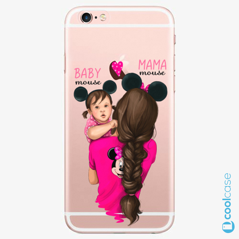 Silikonové pouzdro iSaprio - Mama Mouse Brunette and Girl na mobil Apple iPhone 6 Plus / 6S Plus