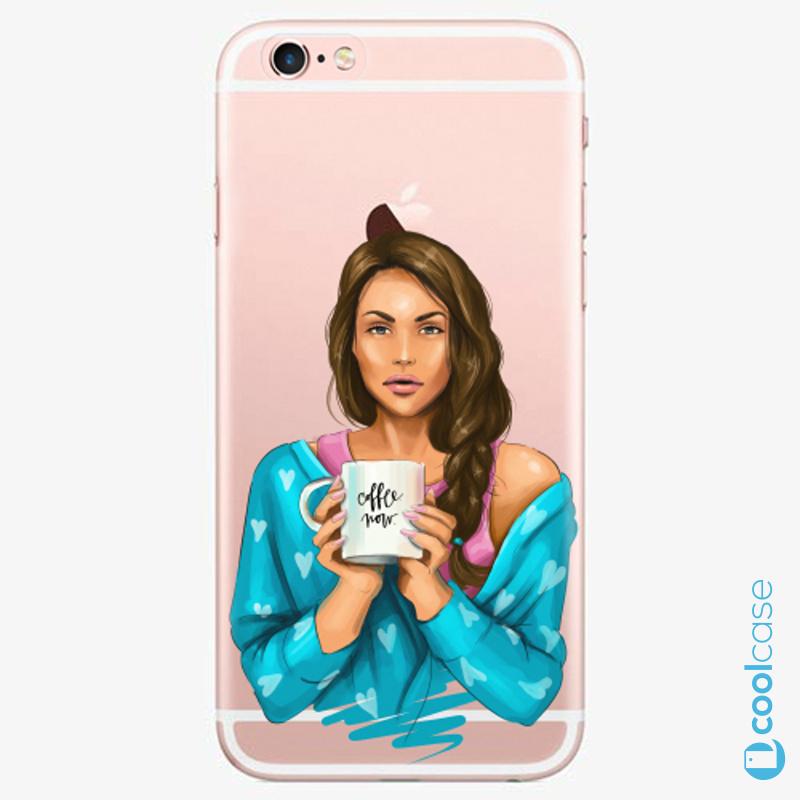 Silikonové pouzdro iSaprio - Coffe Now Brunette na mobil Apple iPhone 6 Plus / 6S Plus