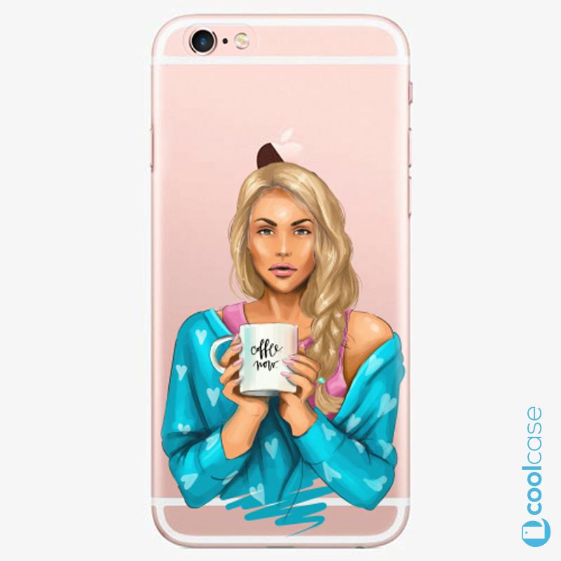 Silikonové pouzdro iSaprio - Coffe Now Blond na mobil Apple iPhone 6 Plus / 6S Plus