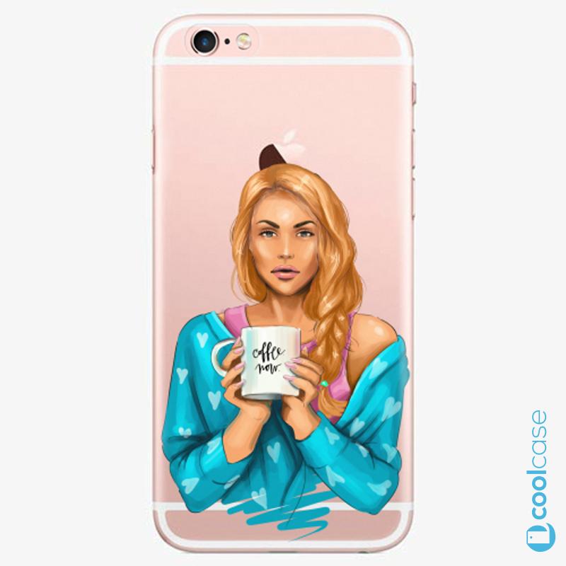 Silikonové pouzdro iSaprio - Coffe Now Redhead na mobil Apple iPhone 6 Plus / 6S Plus