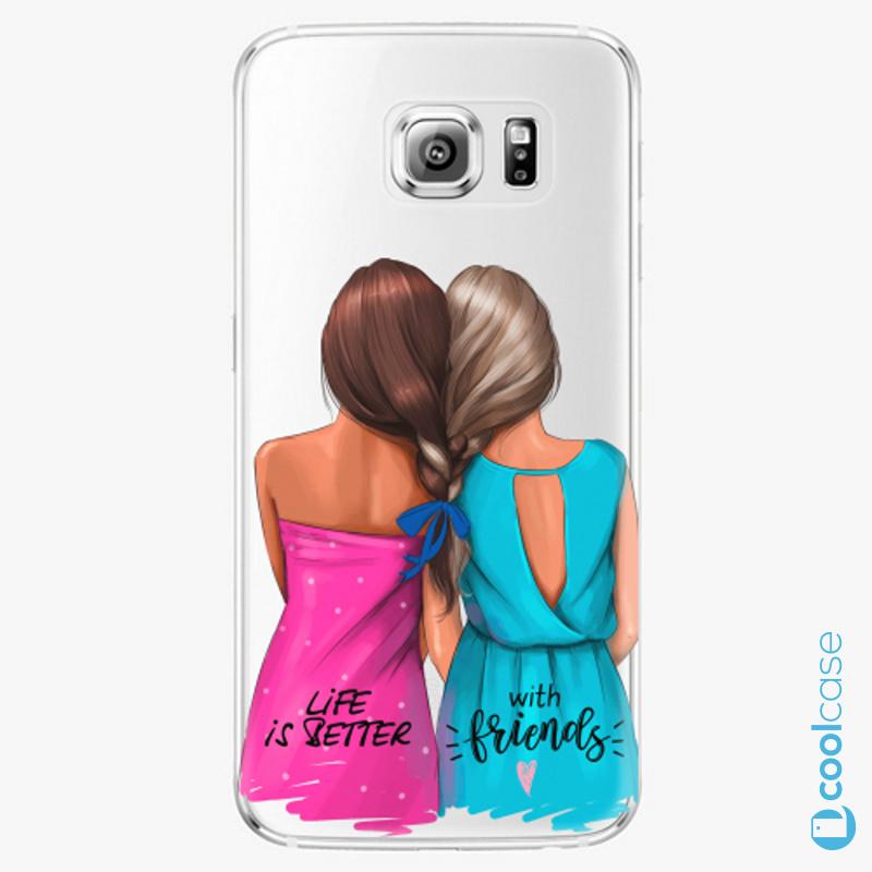 Silikonové pouzdro iSaprio - Best Friends na mobil Samsung Galaxy S6 Edge