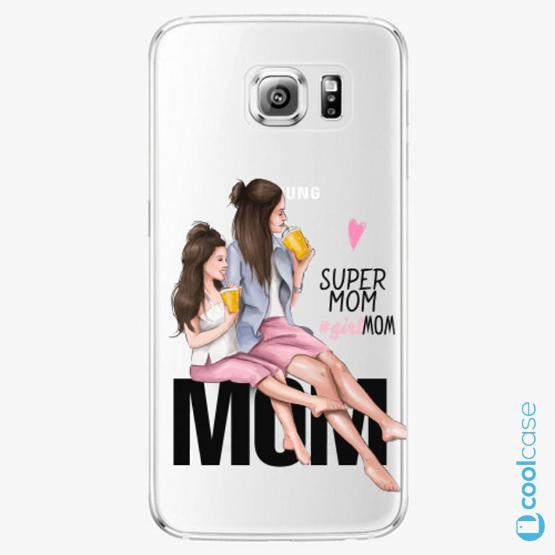Silikonové pouzdro iSaprio - Milk Shake Brunette na mobil Samsung Galaxy S6 Edge