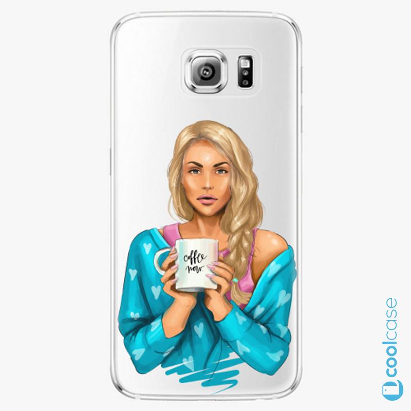 Silikonové pouzdro iSaprio - Coffe Now Blond na mobil Samsung Galaxy S6 Edge