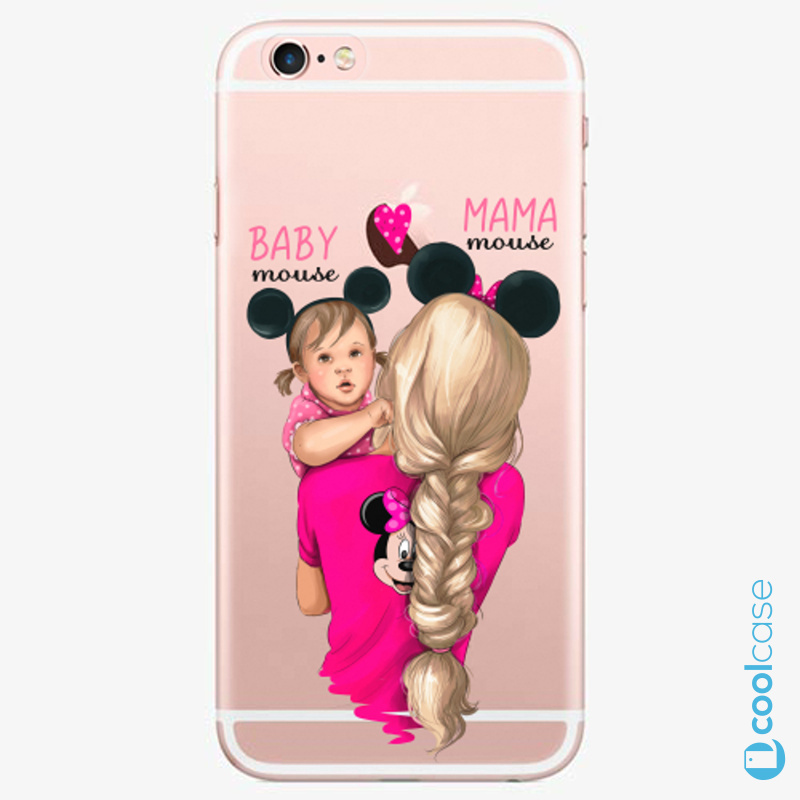 Silikonové pouzdro iSaprio - Mama Mouse Blond and Girl na mobil Apple iPhone 6 Plus / 6S Plus
