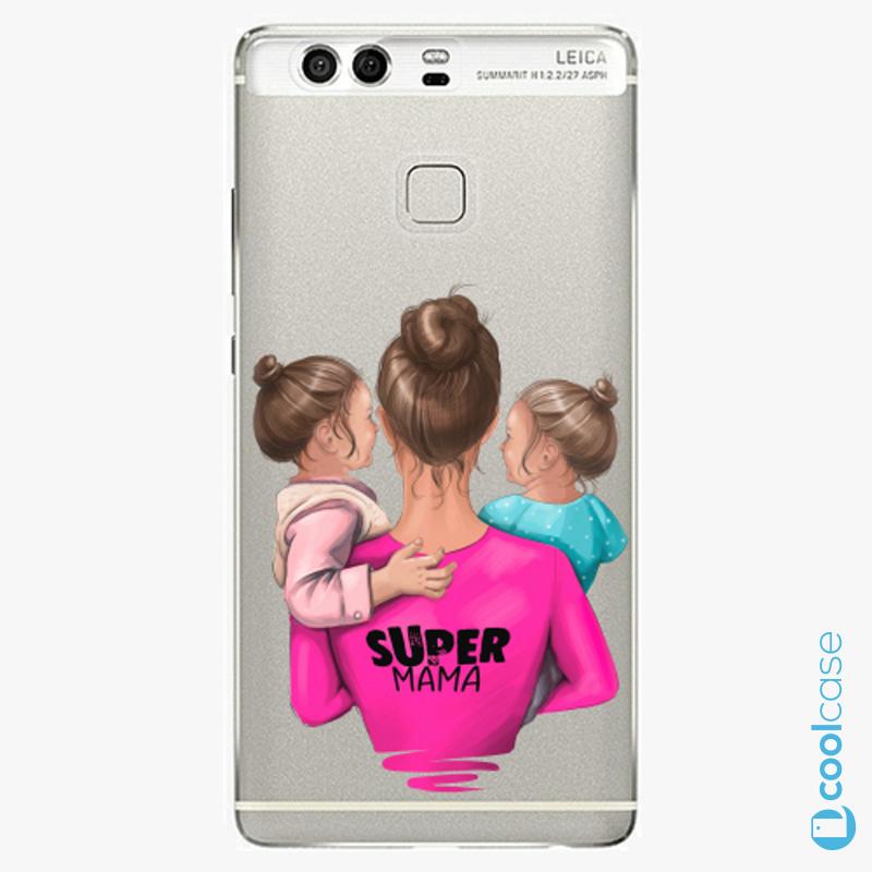 Silikonové pouzdro iSaprio - Super Mama na mobil Two Girls na mobil Huawei P9