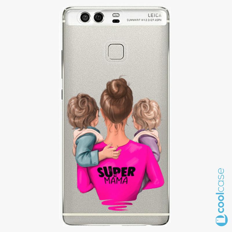 Silikonové pouzdro iSaprio - Super Mama na mobil Two Boys na mobil Huawei P9