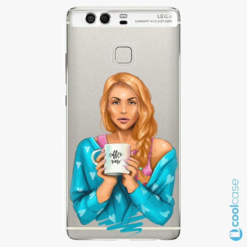 Silikonové pouzdro iSaprio - Coffe Now Redhead na mobil Huawei P9
