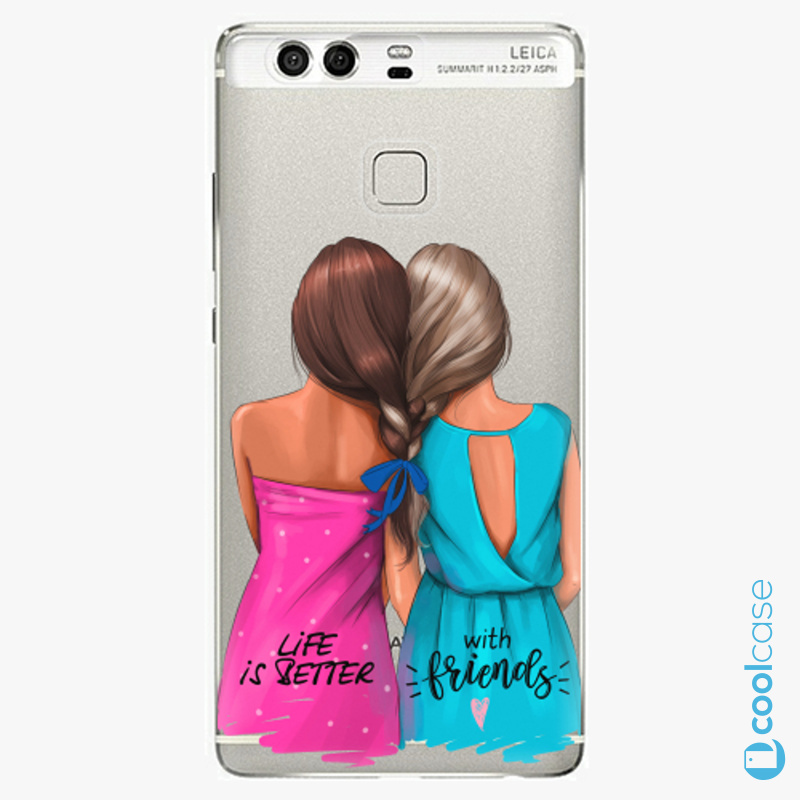 Silikonové pouzdro iSaprio - Best Friends na mobil Huawei P9
