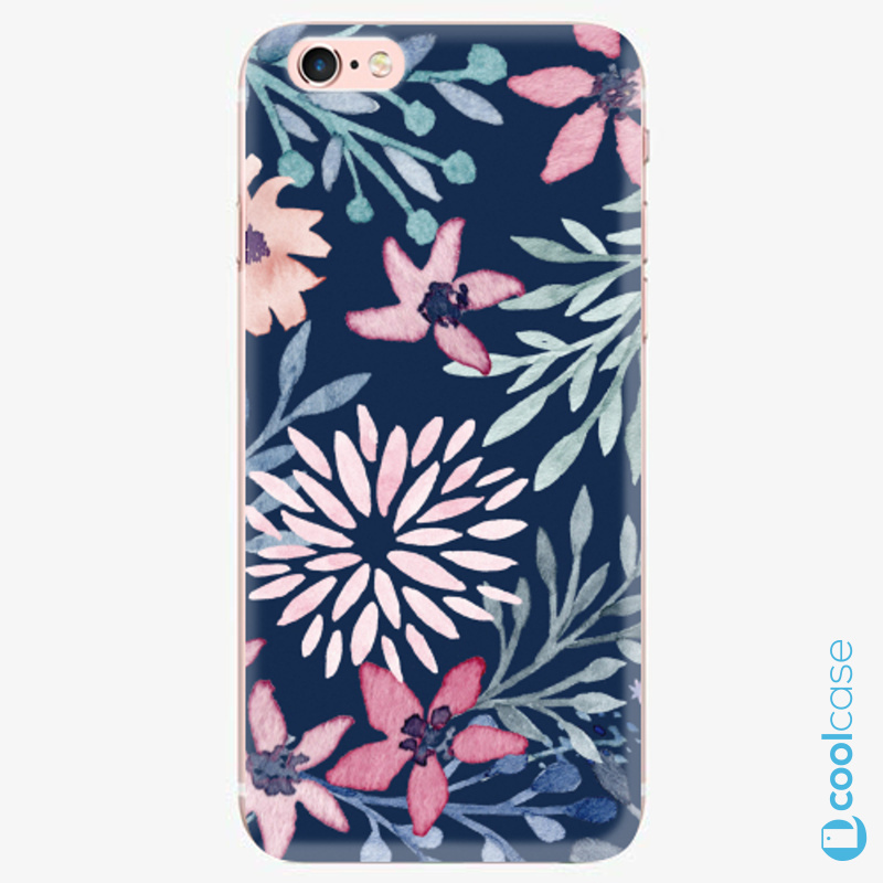 Silikonové pouzdro iSaprio - Leaves on Blue na mobil Apple iPhone 6 Plus / 6S Plus
