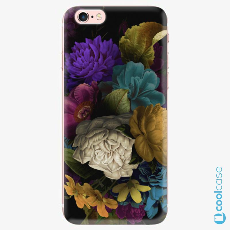 Silikonové pouzdro iSaprio - Dark Flowers na mobil Apple iPhone 6 Plus / 6S Plus