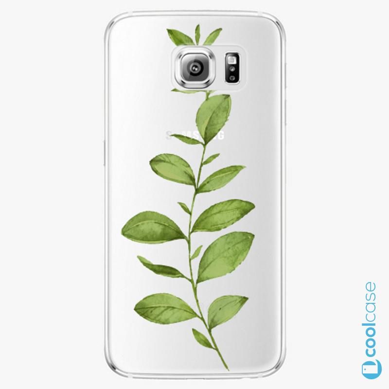 Silikonové pouzdro iSaprio - Green Plant 01 na mobil Samsung Galaxy S6
