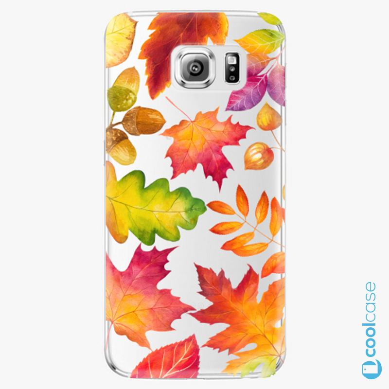 Silikonové pouzdro iSaprio - Autumn Leaves 01 na mobil Samsung Galaxy S6