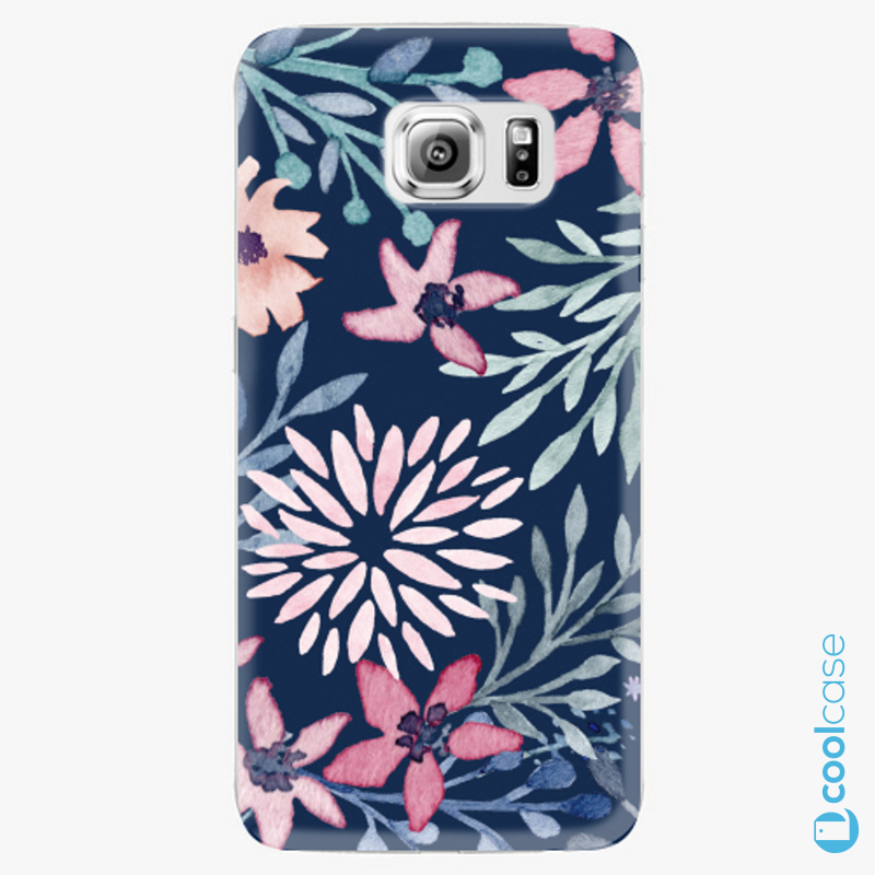Silikonové pouzdro iSaprio - Leaves on Blue na mobil Samsung Galaxy S6 Edge