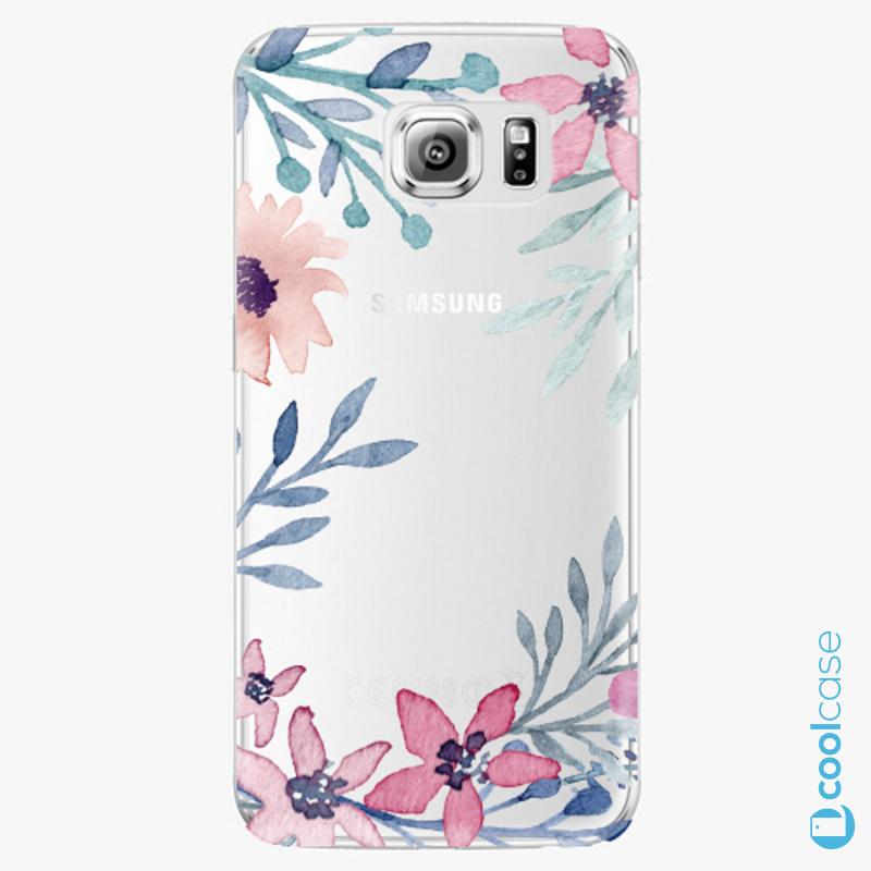 Silikonové pouzdro iSaprio - Leaves and Flowers na mobil Samsung Galaxy S6 Edge