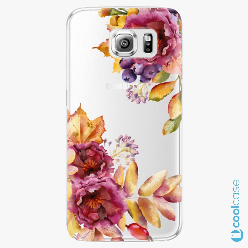 Silikonové pouzdro iSaprio - Fall Flowers na mobil Samsung Galaxy S6 Edge