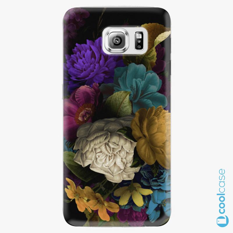 Silikonové pouzdro iSaprio - Dark Flowers na mobil Samsung Galaxy S6 Edge