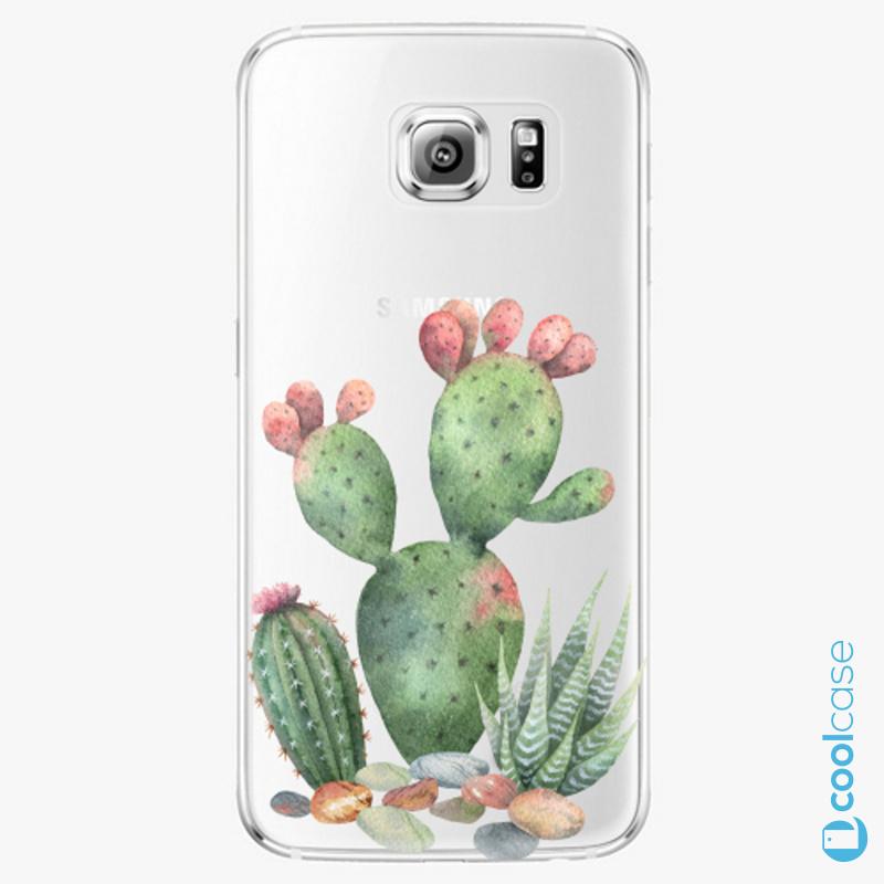 Silikonové pouzdro iSaprio - Cacti 01 na mobil Samsung Galaxy S6 Edge