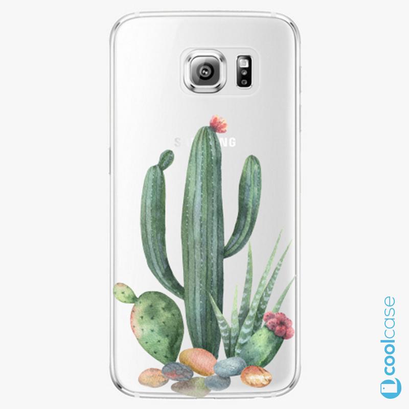 Silikonové pouzdro iSaprio - Cacti 02 na mobil Samsung Galaxy S6 Edge