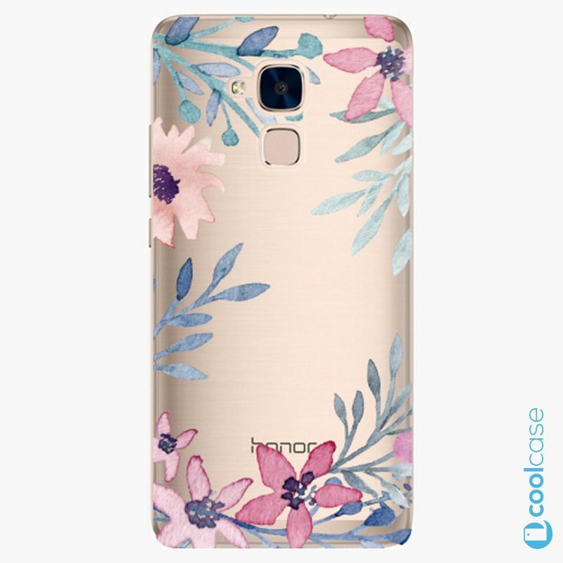 Silikonové pouzdro iSaprio - Leaves and Flowers na mobil Honor 7 Lite